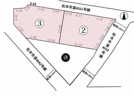土地 - 長野県松本市寿白瀬渕2084番1他2筆