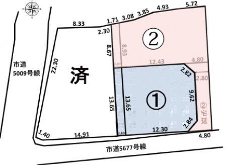 土地 - 長野県松本市村井町南1丁目296-12、296-9