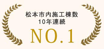 松本市内施工棟数10年連続NO.1